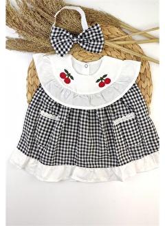 Papyon Baby Kids Kız Bebek Kirazlı Bandanalı Elbise